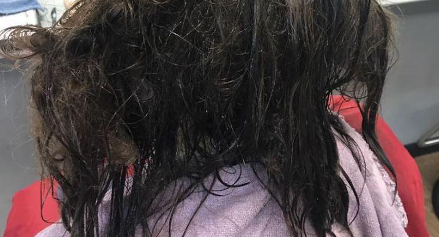 Фото до і після: дівчина попросила просто поголити її налисо, але перукар відмовилася