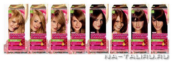 фарба для волосся garnier палітра